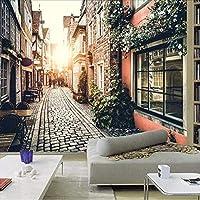 Djskhf カスタム3D壁画壁紙ストリート装飾リビングルームダイニングルームカフェ3D壁壁画壁紙ペーパー風景 400X280Cm