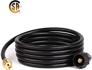 GASLAND Propane Hose, 12FT RV Propane Hose, 1lb to 20lb Propane Tank Adapter Hose, CSA Certified 1lb Propane Tank Adapter, Fittings for QCC1/Type 1 Tank Connector to 1 LB Portable Camp Stove