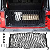 Voodonala 40 x 18 Inches Universal Mesh Envelope Trunk Cargo Storage Organizer Net for Cars, Vans, Trucks and SUVs, for Jeep, for Dodge, for Toyota