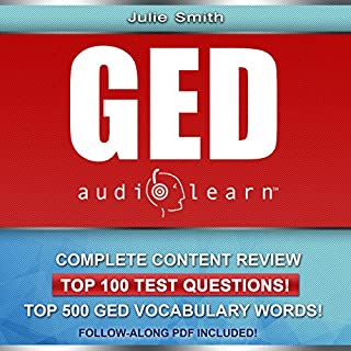 GED AudioLearn - Complete Audio Review for the GED (General Equivalency Diploma) audiobook cover art