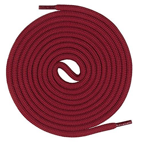 Mount Swiss runde Premium-Schnürsenkel für Arbeitsschuhe Wanderschuhe und Trekkingschuhe - 100% Polyester - extrem reißfest - ø 5 mm - Farbe Weinrot Länge 110cm