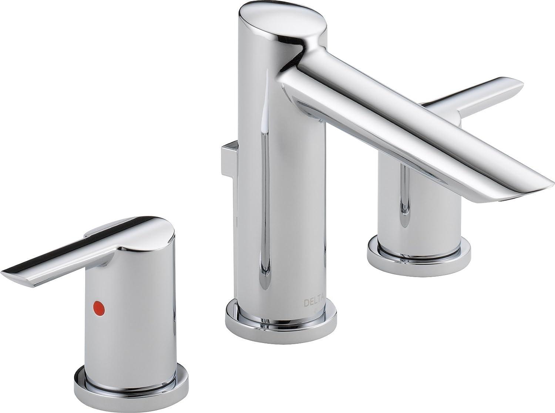 Delta Faucet 20 MPU DST Compel Widespread Bath Faucet with Metal ...