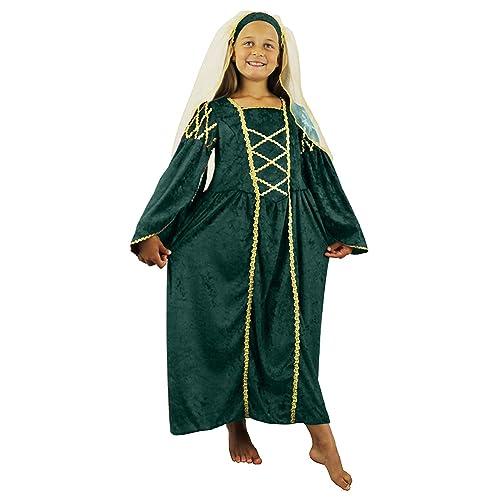fa4c63b5b03 GIRLS TUDOR PRINCESS COSTUME FANCY DRESS PAST TIMES QUEEN CHILDRENS MEDIEVAL  PRINCESS RENAISSANCE SCHOOL CURRICULUM VELOUR