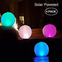 2x LED Solar Kugelleuchte Schwimmende Pool Beleuchtung Wasserdicht IP68 Au/ßenleuchte Gartenlampe 30cm