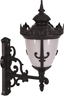 AVONNI BAP-68089-BSY-OP Black Electrostatic Powder Coating Outdoor Light, E27, Aluminyum, Die Casting Base, Polycarbon Gla...