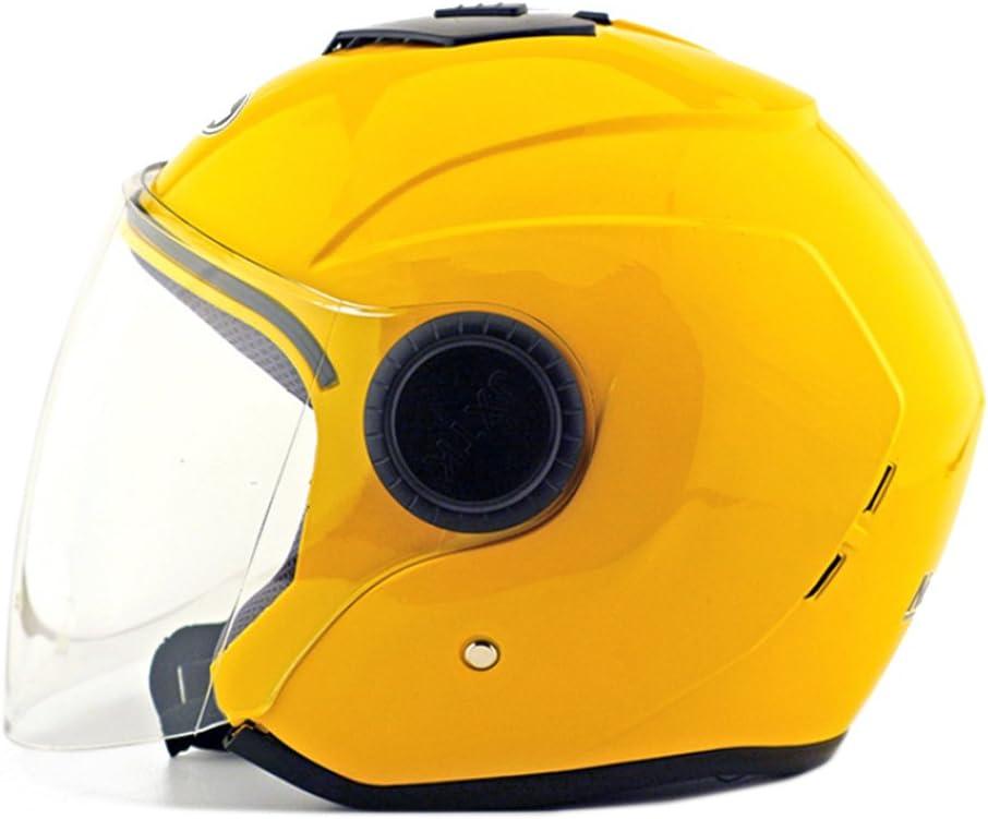 Moto Moto Scooter Moto Cyclomoteur Vélo électrique automobile Tête travail protection sécurité bedeckung Helmet Chapeau Cagoule demi-sphère Bague d'hiver 215jaune