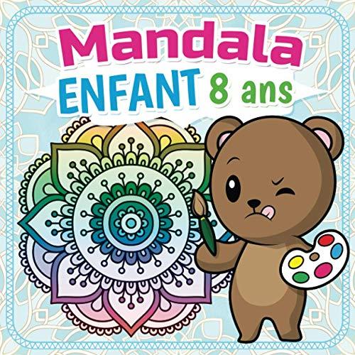 Mandala Enfant 8 ans: Cahier coloriage enfant comprenant 50...