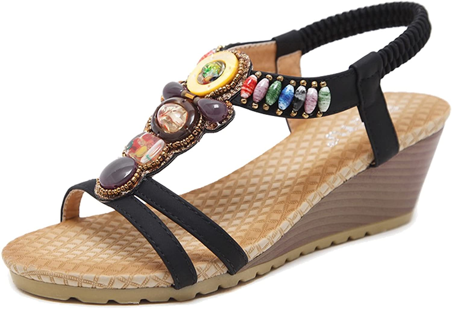 Femaroly Ethnic Female Sandals Wedge Large Size Women's Walking shoes
