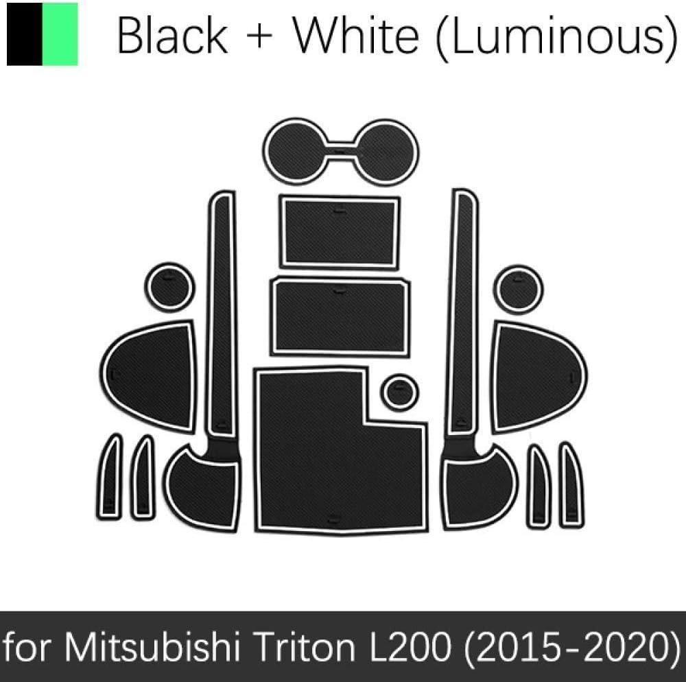 Innentor Schlitzauflage Rutschschutz Cup Mats Gummi rutschfeste Staubmatte rutschfeste Autot/üR Nut Nut Matte T/üRschlitzauflage F/üR Mitsubishi Triton L200 2015-2020