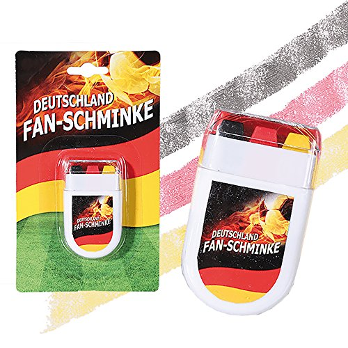 Preis am Stiel 1 x Fan-Schminke im Blockstift ''Deutschland'' | Fanschminke