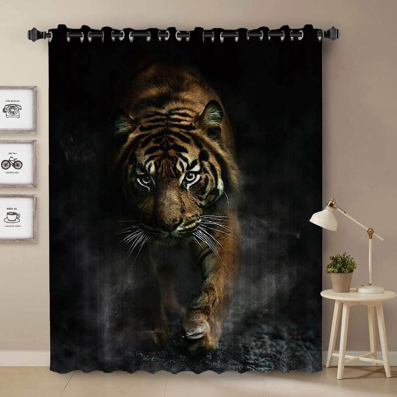 Darkening Blackout Curtain for Bedroom - Save money Long Window Tre Challenge the lowest price of Japan ☆ 72 inch