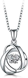 T400 Dacing Stone Necklaces for Women Daimond Cubic Zirconia Dazzling Sterling Silver Fashion Jewellry