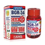 100 BGR-34 TABLETS (1 PACK) 100% NATURAL HERBAL Blood Glucose Metaboliser Research product of C.S.I.R.