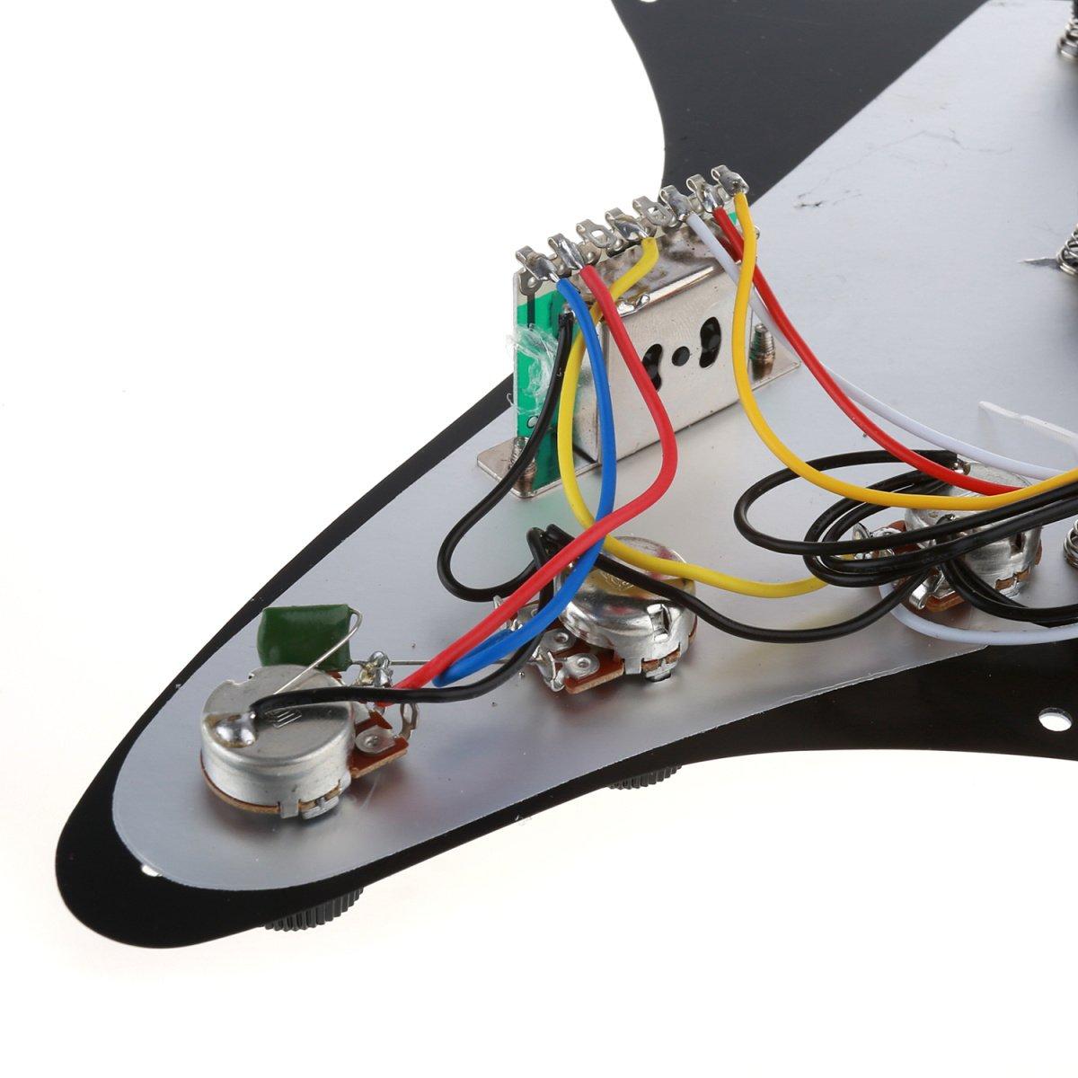3 Ply 11 Holes SSS Pickguard Scratch Prewired Guard Plate Loaded Pickup