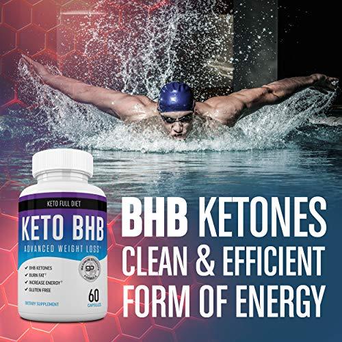 Nutriana Keto Diet Pills - Ketogenic Keto Pills for Women and Men - Keto Supplement BHB Salts - Keto Fast Exogenous Ketones - Ketosis Keto BHB Pills 60 Capsules 30 Day Supply 5