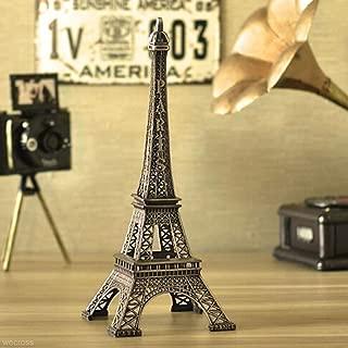 YOTATO Bronze Tone Paris Eiffel Tower Figurine Statue 15Cm Model Home Decors Souvenir Sculpture