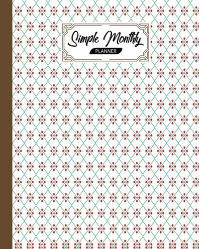Simple Monthly Planners: Rhombus Cover | Pretty Simple Planners Monthly and Year | To Do List, Goals, and Agenda for School, Hom