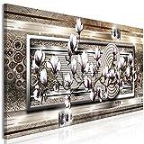 murando Cuadro Acústico Flores 120x40 cm Impresión 1 Pieza Artística Lienzo de Tejido no Tejido Decoración de Pared Aislamiento Absorción de Sonidos Glamour de Magnolia geométrico b-A-0861-b-a