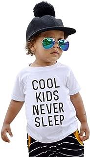 Goodlock Kids Children Fashion Tops Baby Girls Boys Letter Print Soft Tops Cute T-Shirt Clothes