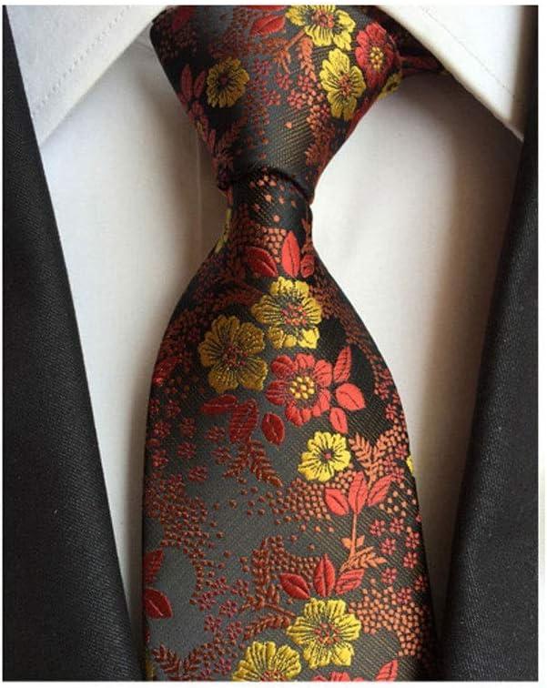 GPPZM Fashion Silk Men's Floral Tie Jucquard Necktie Suit Men Business Wedding Party Formal Neck Ties Gifts Cravat (Color : A)