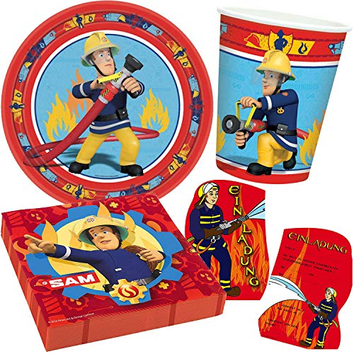 Amscan/Carpeta Lot de 42 pièces avec assiette + gobelet + serviettes + lot d'invitation // Set de fête fête Décoration fête fête fête à thème