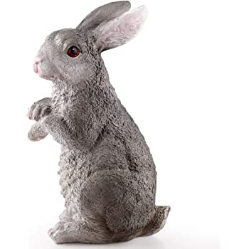 Prbll Ornements Gris Blanc Maison Resine Decoration De Jardin Lapin Lapin Ornement Exterieur Jardin Art Figurine House Decor Amazon Fr Cuisine Maison