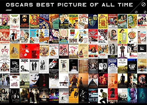 The Oscars Best Picture of All Time Jigsaw Puzzle 1000 Pieces for Adults Kids, Memorize The Academy Awards Best Picture with Family Friends