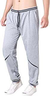 PASATO Fashion New Men's Pants Drawstring Elastic Waist Joint Loose Sports Pants