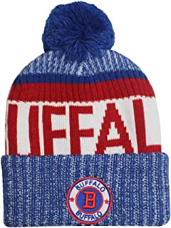 8f918aec154 Football City Pom Beanie Premium Embroidered Patch Winter Soft Thick Beanie  Skully Hat Black