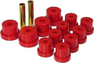 Prothane 7-1011 Red Rear Multi Leaf Spring Eye and Shackle Bushing Kit
