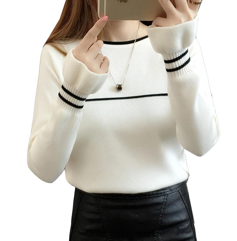 [美しいです] レディース セーター ニット フリル袖 メリヤス 春 秋 冬 通勤 ストレッチ カジュアル OL