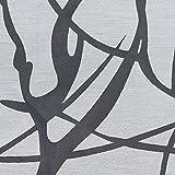 Heichkell Voile Ösen Raffrollo Gardine mit Haken Ausbrenner Raffgardine ohne Bohren Ausbrenner Design >Baumast< Faltenrollo in Küche Rollos Vorhang mit seitlicher Schnüren Weiß BxH 140x60 cm - 6