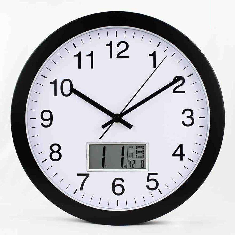 punto de venta de la marca ANDEa Calendario Perpetuo Salón Reloj de Parojo 12 Pulgadas Temperatura Temperatura Temperatura El Calendario Lunar Bell Calendario Simple (Color   C)  descuento