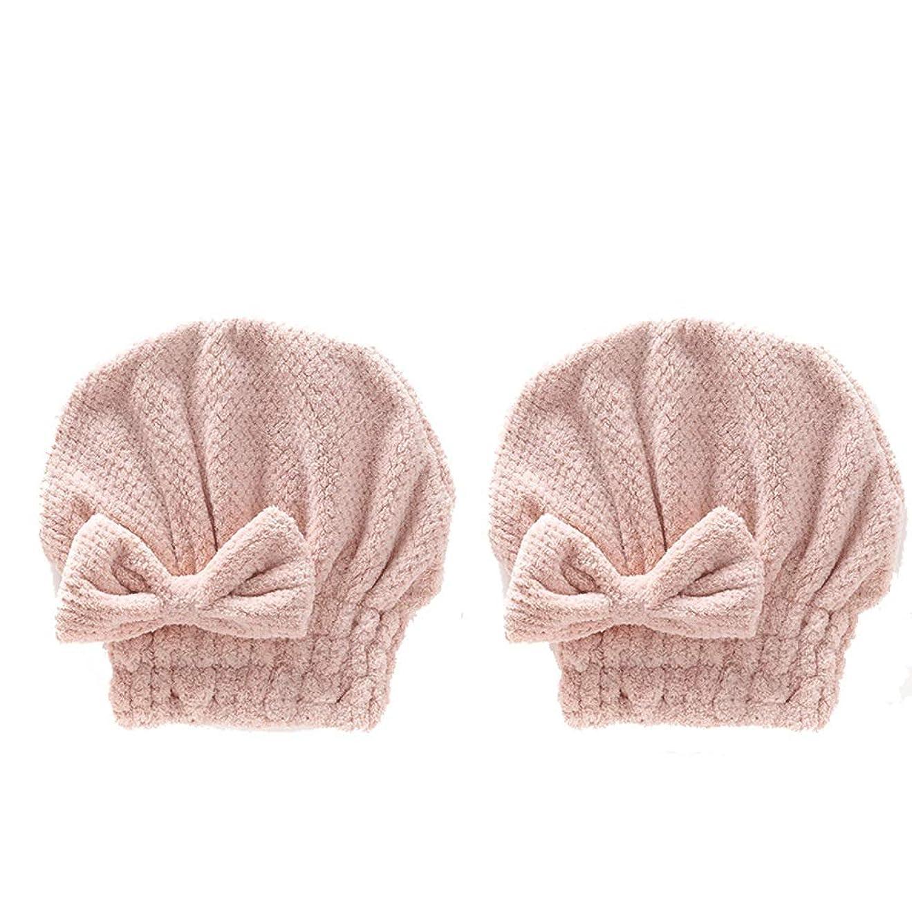 意識的気質魅力家庭用品 シャワーキャップの厚いCorの羊毛の強い吸水性の速い乾燥した大人 (Color : L)