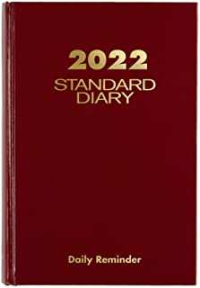 """2022 Diary by AT-A-GLANCE، Standard Daily Diary، 5-3/4 """"x 8-1/4""""، Small، Red (SD38913)"""