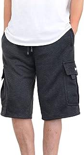 AIRNINE Men's Fleece Cargo Sweatpants Heavyweight S-6XL