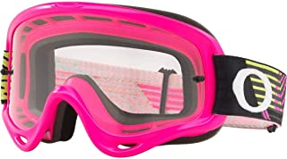 Oakley O Frame MX Adult Off-Road Motorcycle Goggles - Circuit Neon Pink Green/Clear