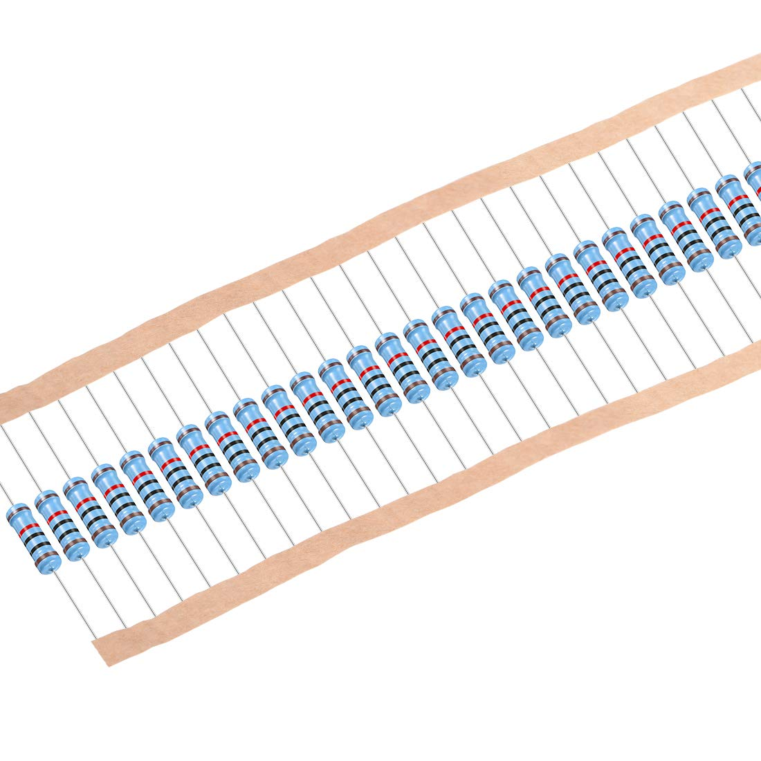 uxcell 30Pcs Ranking TOP13 10K Ohm Resistor 2W Tolerance Film National products 1% Resist Metal