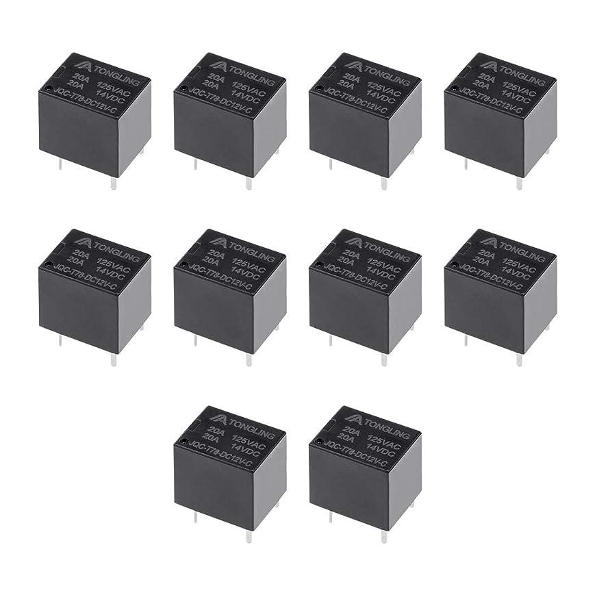 効果的先駆者光uxcell PCB電磁パワーリレー 汎用リレー DC 12V SPDT 5ピン JQC-T78-DC12V-C 10枚入り