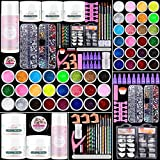 Cooserry Acrylic Nail Kit with Liquid Monomer - 79 in 1 Nails kit Acrylic Set with Glitter Powder Brush Tips File Tools - Nail Kit For Beginners With Everything Professional for Starter Nail Design