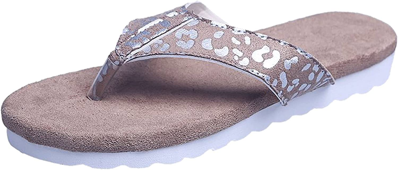 ZiSUGP Ladies Summer Fashion Large Size Flip-Flat Lightweight Beach Shoes Slippers