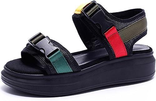 ZXMXY Femmes Chaussures D'été Sport Sandales Casual Creative Talon Plat Chaussures De Mode Sandales en Plein Air Outdoor Sandals