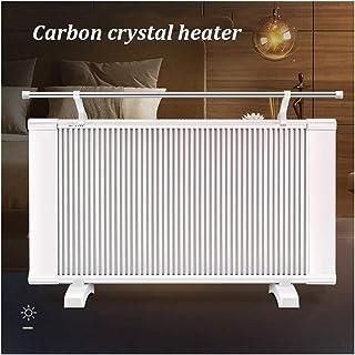 Calentadores eléctricos Radiadores - Home Office Bajo consumo de energía de los paneles calefactores - 2000W de doble cara de cristal de carbono Calefacción - Ajuste de dos velocidades 3 segundos rápi