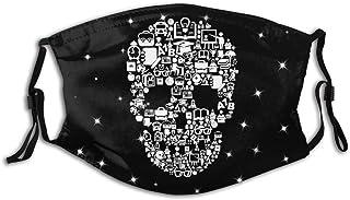 Promini skalle formad skolkollage personlig munärm återanvändbar munskydd