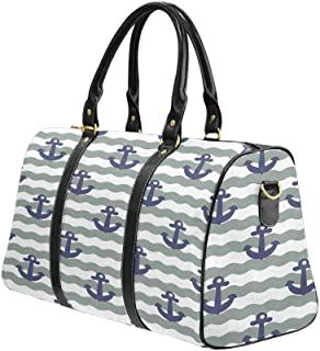 Weekender Bag Overnight Carry-on Tote Duffel Bag Anchor