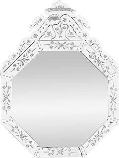 KOHROS Wall Mounted Squared Mirror, Venetian Mirror Decor for The Living Room, Bathroom, Bedroom (W 23.5