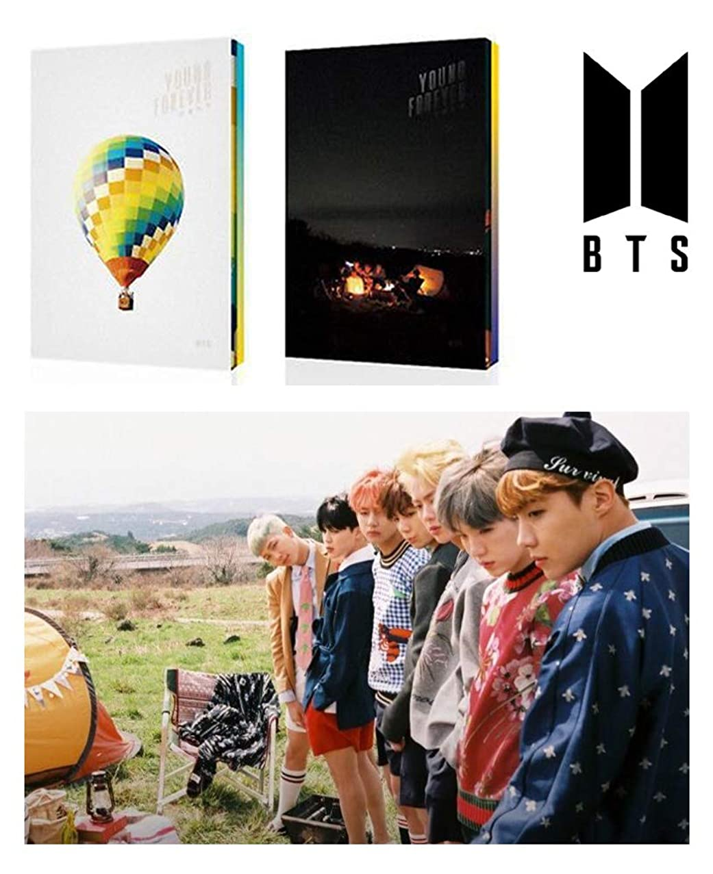 BTS YOUNG FOREVER [Day+Night Set ver.] In The Mood For Love Special Album SET BANGTAN BOYS 4CD + 2Posters + 2Photo Books + 2Polaroid Cards + Extra Gift