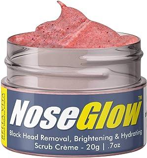Bella Vita Organic Nose Glow Scrub Creme for Black Head Removal, Brightening & Hydration, 20 g