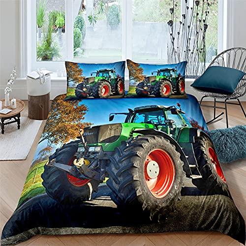 HUA5D Funda Nordica Tractor 135X200 Infantil Niña Niño Ropa De Cama Granja Fotos Fundas De...