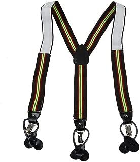 SP2018 navy Nylon Men/'s X-Back Clip Leather PU Suspenders business Y/&G